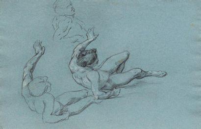 Lot de sept dessins: RENÉ PAUL HUET (NICE 1844-1928)