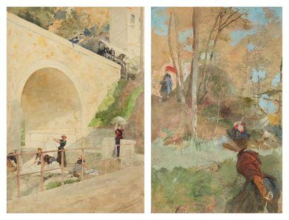 Lot de trois dessins EMILE BOILVIN (METZ 1815-PARIS 1899)
