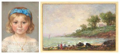 Lot de deux dessins EDOUARD JOSEPH DANTAN (PARIS 1848-VILLERVILLE 1897)