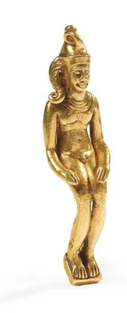AMULETTE D'HARPOCRATE. Rare amulette représentant...