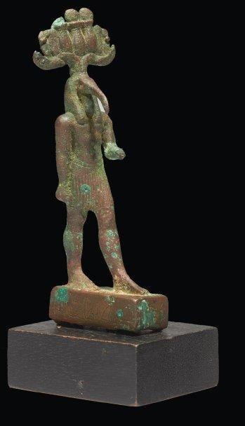 STATUETTE DU DIEU THOT. Statuette votive...