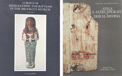 TOSI M. & ROCCATI A Stele e altre epigrafi di Deir el Medina, Turin, 1972, relié....