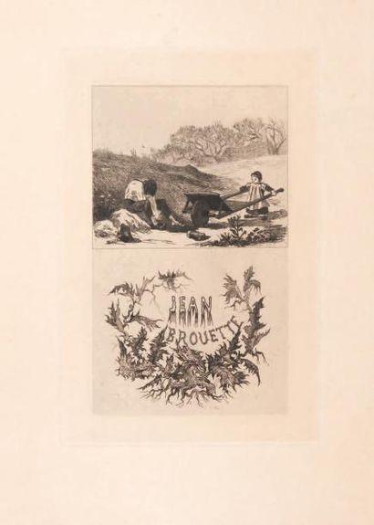 Félicien Rops (1833-1898) Jean Brouette Sur papier van Gelder 6e état/6. E246. H_19,5...