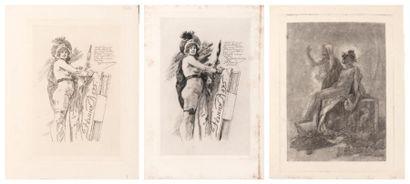 FÉLICIEN ROPS (1833-1898 La muse de Rops E363. H_23 cm L_15,5 cm - La muse de Rops...