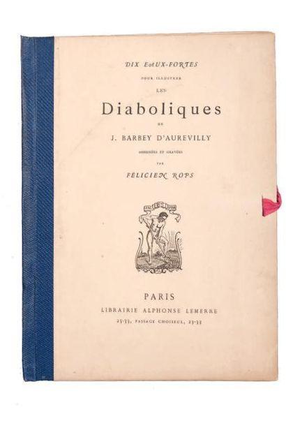Félicien Rops (1833-1898) Les diaboliques 9 planches + portrait Rajon