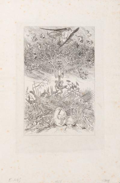 Félicien Rops (1833-1898) Les Epaves Eau forte sur papier Chine. R 349 et E 465 H_19,5...
