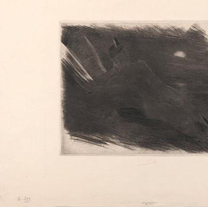 Félicien Rops (1833-1898) Diabologie Manière noire et pointe sèche. Sur papier filigrane....