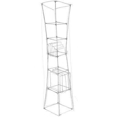 POL QUADENS (NÉ EN 1960) Prototype 1 Etagère fil «Empty shelf», 2014 Acier laqué...