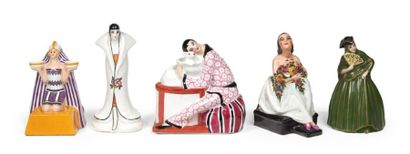 LOT DE CINQ LAMPES en forme de figures de...