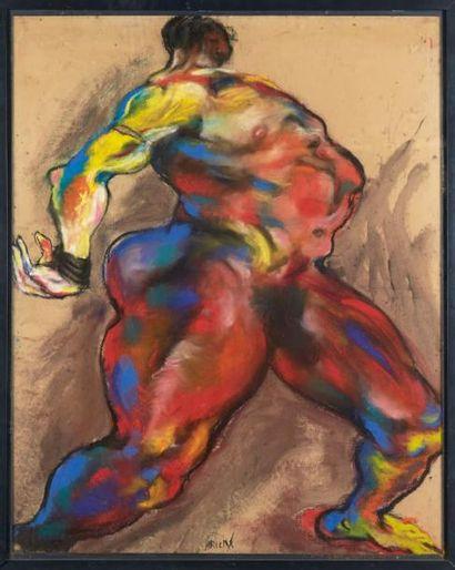 Lydie ARICKX (né en 1954) Nu, 1986. Signé en bas au milieu. H_100 cm L_80 cm