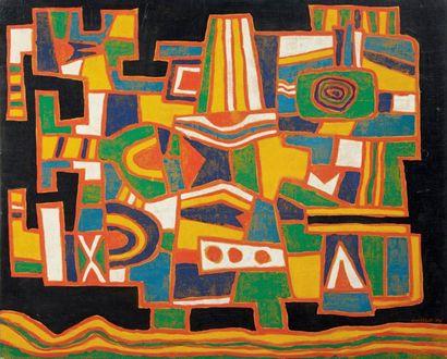 Jacques SOISSON (né en 1928) Oiseau croque en bouche, 1975 Huile sur toile. Signée...