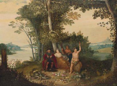 ECOLE FLAMANDE VERS 1700, SUIVEUR DE JAN BRUEGHEL ET HANS VAN BALEN
