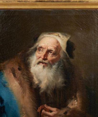 GIAMBATTISTA TIEPOLO (VENISE 1696-MADRID 1770) Figure d'homme au manteau de fourrure...