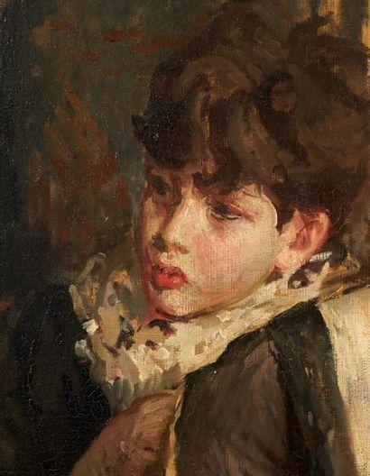Jacques-Emile BLANCHE (1861-1942) Portrait de la cantatrice Marya Freund et de ses...