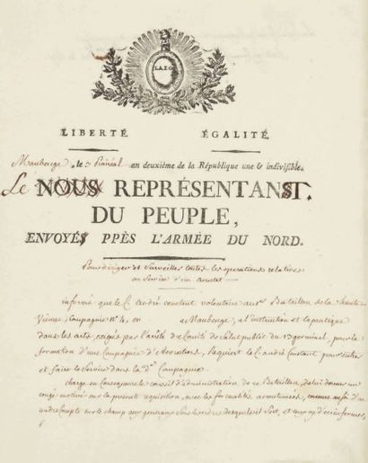 [AEROSTATION]. Lettre signée de MORLET, Président...