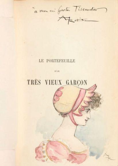 ROBIDA, Albert Le Portefeuille d'un très vieux garçon. Paris, librairie illustrée,...