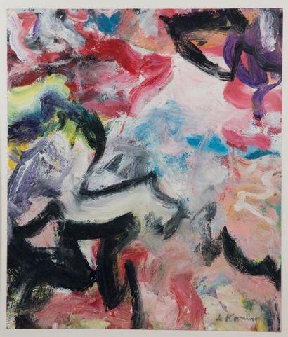 Willem DE KOONING (1904-1997) Untitled Peinture sur papier. Signée en bas à droite....