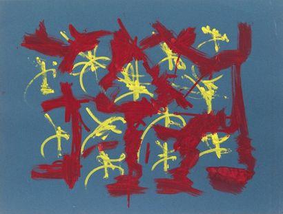 Georges MATHIEU (1921-2012) Composition - projet de tissu, ca 1955 Gouache sur papier...