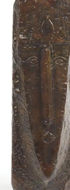 Amedeo MODIGLIANI (1884-1920) La Cariatide,Tête IV Epreuve en bronze. Signée à la...