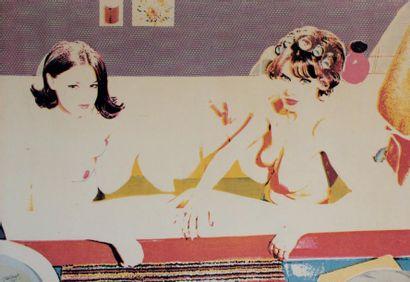 Alain JACQUET (1939-2008) Gabrielle d'Estrées, 1965 Sérigraphie unique sur toile....