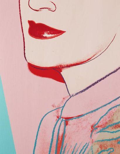 Andy Warhol (1928-1987) Portrait d'Antoine Grunn, 1981 Acrylique et encre sérigraphiée...