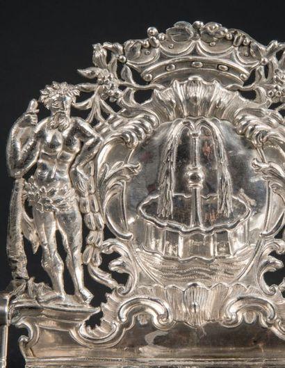 LAMPE DE HANOUKKA EN ARGENT, MODÈLE TRÈS RARE Francfort, vers 1770 Maître orfèvre...