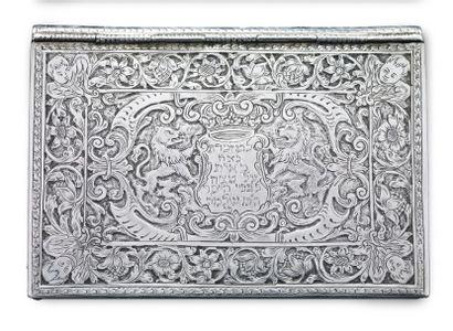 MANUSCRIT AVEC RELIURE EN ARGENT FINEMENT TRAVAILLÉ Kitsee, Autriche, XVIIIème siècle...
