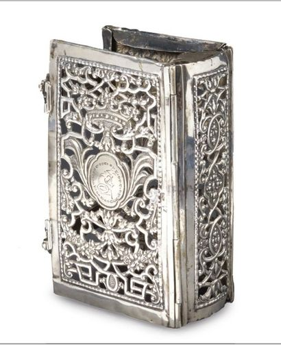 RELIURE EN ARGENT XVIIIème siècle Inscription...