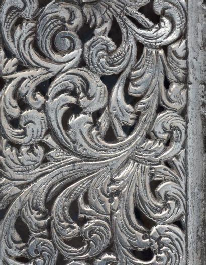 RARE TOUR D'ÉPICES EN ARGENT Europe de l'Est, XVIIIème siècle Poinçon non identifié,...