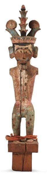 FIGURE D'ANCÊTRE «Adu Zatua» en bois sculpté....