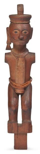 FIGURE D'ANCÊTRE en bois sculpté sans bras...