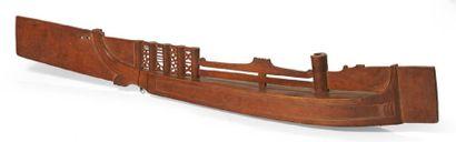 LUTH «Kacapi» en bois sculpté en forme de...