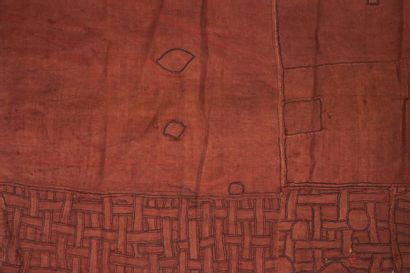 NTCHAK KUBA ZAÏRE. RDC. Petit tissu ocre...