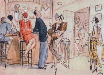 JEAN PATOU, 1929 ROBE D'APRES-MIDI en mousseline de soie imprimée à décor tacheté...