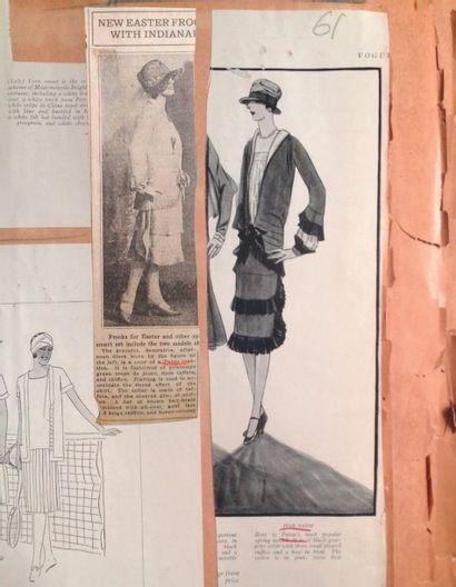 JEAN PATOU, circa 1926 ROBE en crêpe de chine rose thé, petit col cravate à nouer...