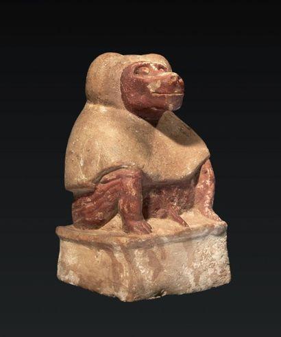 THOT BABOUIN. Statuette représentant le dieu...