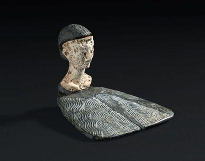PRINCESSE DE BACTRIANE. Statuette composite...