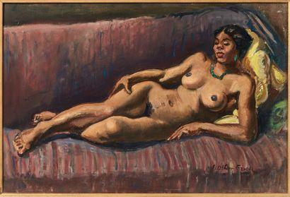 ACHILLE-EMILE OTHON FRIESZ (1879-1949) La belle martiniquaise, vers 1924-1925 Huile...