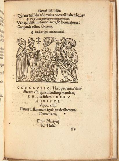 [HUS] Processus consistorialis martyrii Io. Huss, cum correspondentia legis gratiae,...