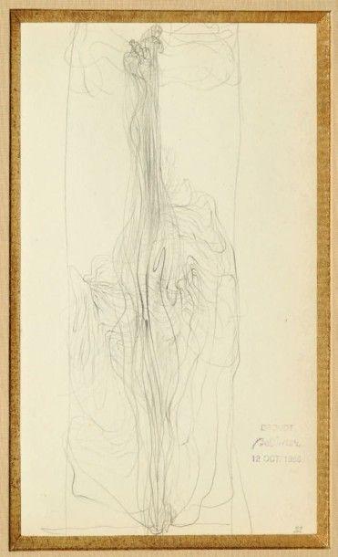 Hans BELLMER (1902 - 1975) Sans titre Crayon sur papier Cachet de la 'vente Bellmer'...