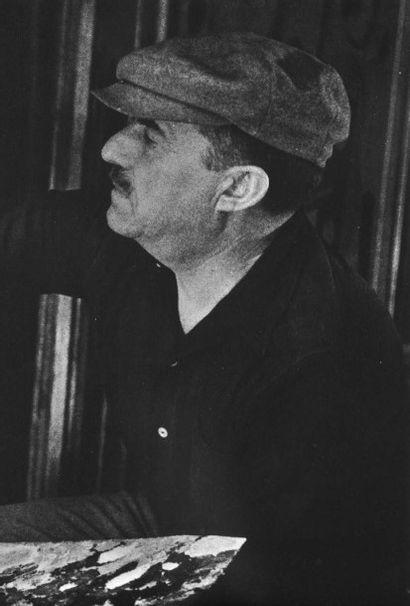 FERNAND LEGER (1881 - 1955) Statuette de femme et plante, 1949 Huile sur toile Signée...
