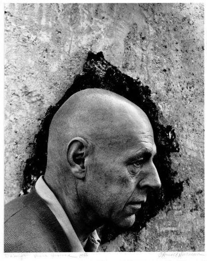 JEAN DUBUFFET (1901 - 1985) Paysage avec trois personnages, DG 39, 1961 Encre de...