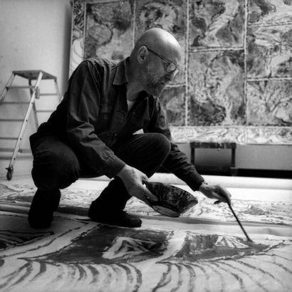 Pierre Alechinsky (né en 1927) La pélure de l'obscure, 1966 Acrylique sur papier...