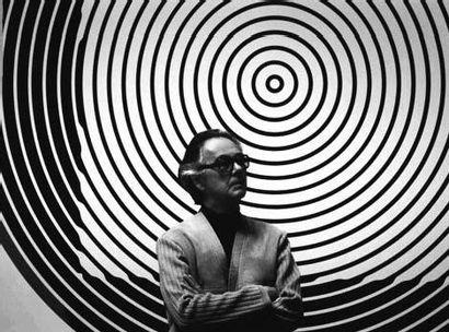 Victor VASARELY (1906 - 1997) Cléo II, 1961-1992 Huile sur toile Signée en bas au...
