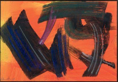 Gérard Ernest SCHNEIDER (1896 - 1986) Composition, 1978 Gouache sur papier Signée...