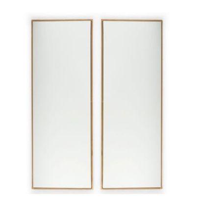 SVENKST TENN Suède Paire de grands miroirs rectangulaires Étain et verre Édition...