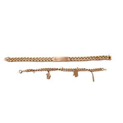 6149/16 Suite de deux bracelets gourmettes...