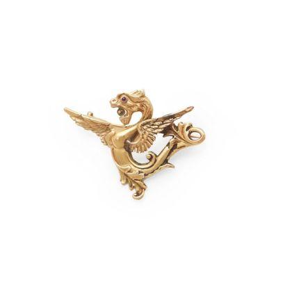 6149/18 Broche fi gurant une chimère en or...