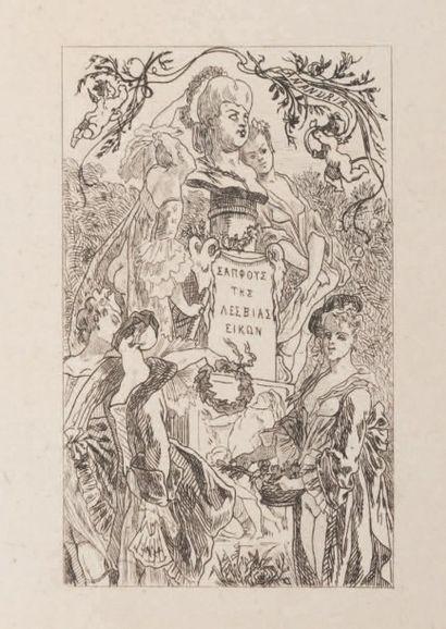 Félicien Rops (1833-1898) Amandria II Eau-forte. E.692 Sur papier Chine 1866. H_13,5...