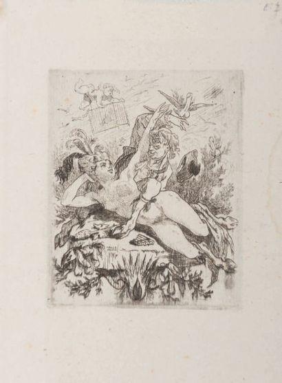 Félicien Rops (1833-1898) La tentation Sur papier Chine H_7,7 cm L_6,3 cm Provenance:...